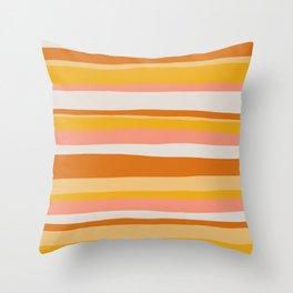 sedona, desert stripes Throw Pillow