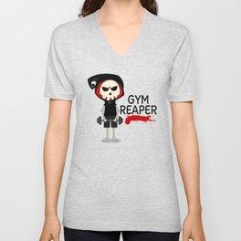 Gym Reaper | Fitness Grim Reaper Training Unisex V-Neck