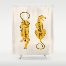 The Chase: Golden Tiger Edition Shower Curtain