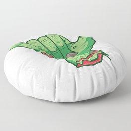 Shakah Brah Hang Loose Undead Zombie Hand Halloween print Floor Pillow
