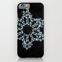 Christmas Snowflake in Ice Blue iPhone Case