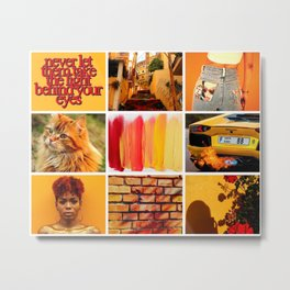 Bold Orange Yellow Moodboard Metal Print