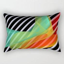 bicubic waves in opart design -1- Rectangular Pillow
