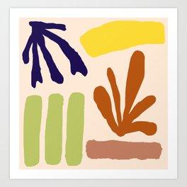 Color Study Matisse Inspired Art Print