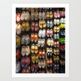 These Clogs Were Made For Walking Art Print
