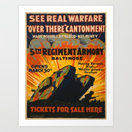 Vintage poster - Fifth Regiment Armory Art Print
