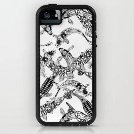 lucky koi mono iPhone Case