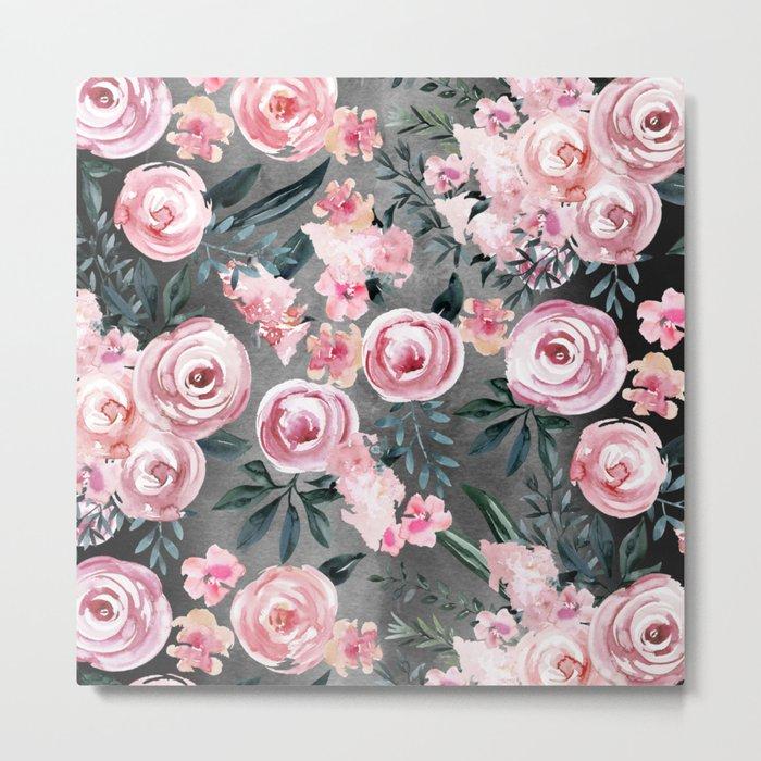 Night Rose Garden Metal Print