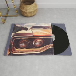 Rusty And Blue - America As Album Art Rug