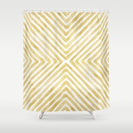 Gilded Bars Shower Curtain