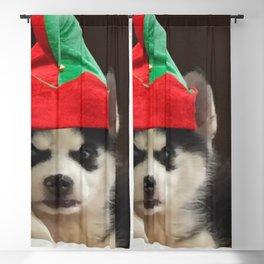 Husky Puppy Elf Blackout Curtain