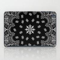 2pac iPad Cases featuring black and white bandana by Marta Olga Klara