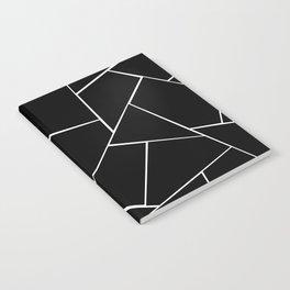 Black White Geometric Glam #2 #geo #decor #art #society6 Notebook