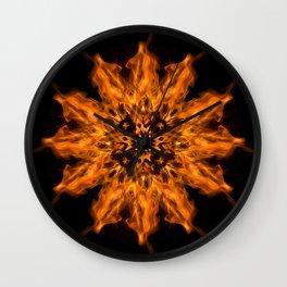 Fire Ceremony Mandala 144 Wall Clock