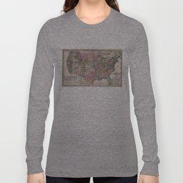 Vintage United States Map (1860) Long Sleeve T-shirt