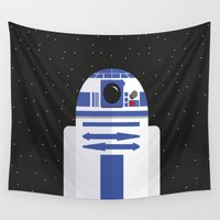 r2d2 Wall Tapestries featuring R2D2 by FioMedina
