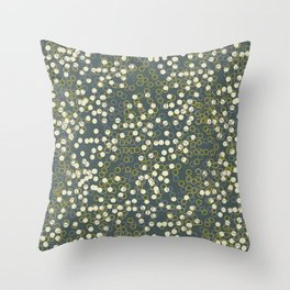Dots and Rings-Grey Throw Pillow