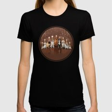 Hot Dog, It's Hanukkah! Womens Fitted Tee Black SMALL