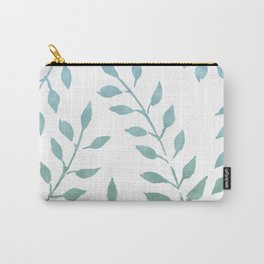 Blue and Green Fronds Carry-All Pouch