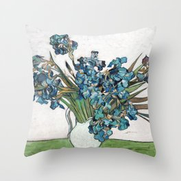 Vincent Van Gogh - Irises (new color editing) Throw Pillow
