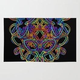 Rainbow 3-D Doodle Rug