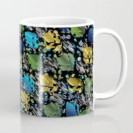 elegant modern pattern with dots circling shiny colored chick glittery Coffee Mug