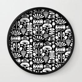 MCM Scandi Flowers White Wall Clock
