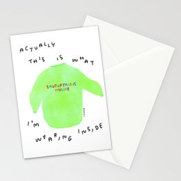 Self-Love Positive Quotes Life Humor Motivation Shut Up This Is My Life Colorful Sweater Illustration Stationery Cards