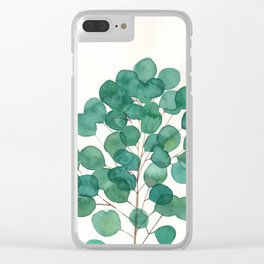Silver Dollar Eucalyptus Clear iPhone Case