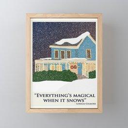 Gilmore girls house Framed Mini Art Print