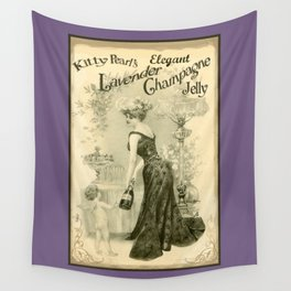 Kitty Pearl's Elegant Lavender Champagne Jelly Wall Tapestry