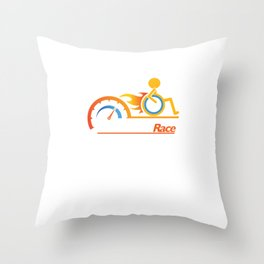 Awesome Handicapped Disability Disabled Human Race Throw Pillow