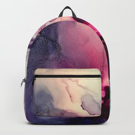 Mission Fusion - Mixed Media Painting Backpack