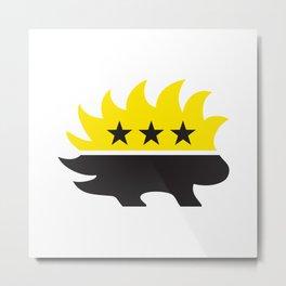 ancap libertarian porcupine black yellow anarchocapitalist Metal Print