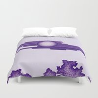 egyptian Duvet Covers featuring Egyptian Moon by Erica Putis