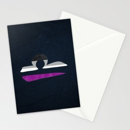 Asexual Pride Flag Libra Zodiac Sign Stationery Cards