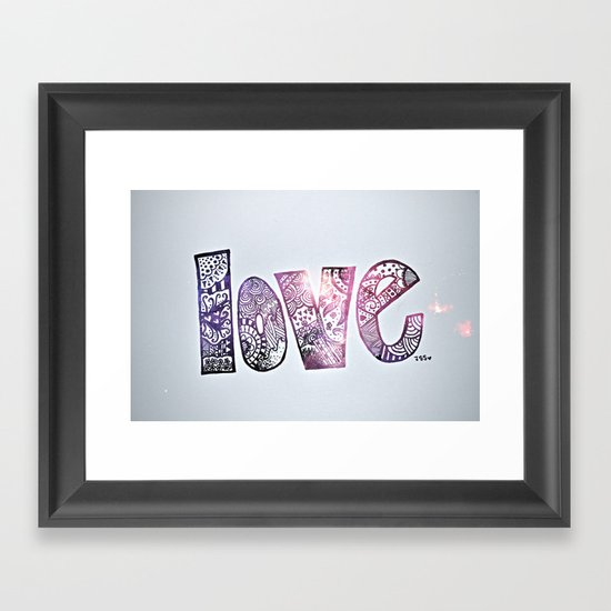 love is all you need. (galaxy) Framed Art Print