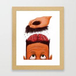 Brains Out Framed Art Print
