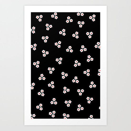 Night Daisies Art Print
