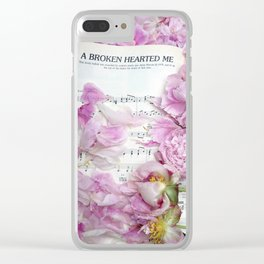 Shabby Chic Cottage Peonies On Sheet Music - Inspirational Peonies Print Clear iPhone Case