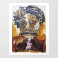 dentist Art Prints featuring My dentist by June O'Connell