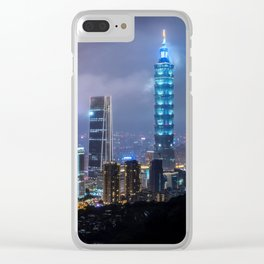 Lights of Taipei Clear iPhone Case