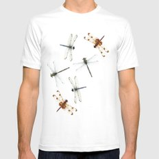 dragonfly pattern Mens Fitted Tee White MEDIUM