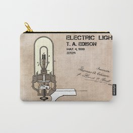 Edison electric light patent Carry-All Pouch