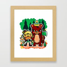Lumberjack and Friend Framed Art Print