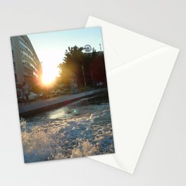 Beaming in Belgrade. Stationery Cards