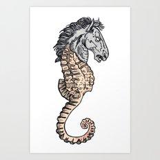 evil horse Art Print