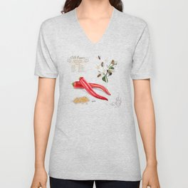 Chilli Peppers and Pollinators Unisex V-Neck