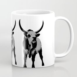 Bulls op art Coffee Mug