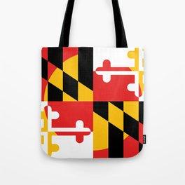 Maryland State Flag Art Print Tote Bag